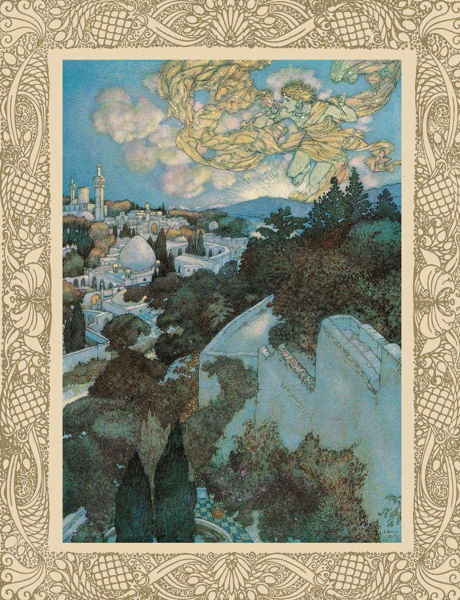 Edmund Dulac illustration for the Rubáiyát of Omar Khayyám