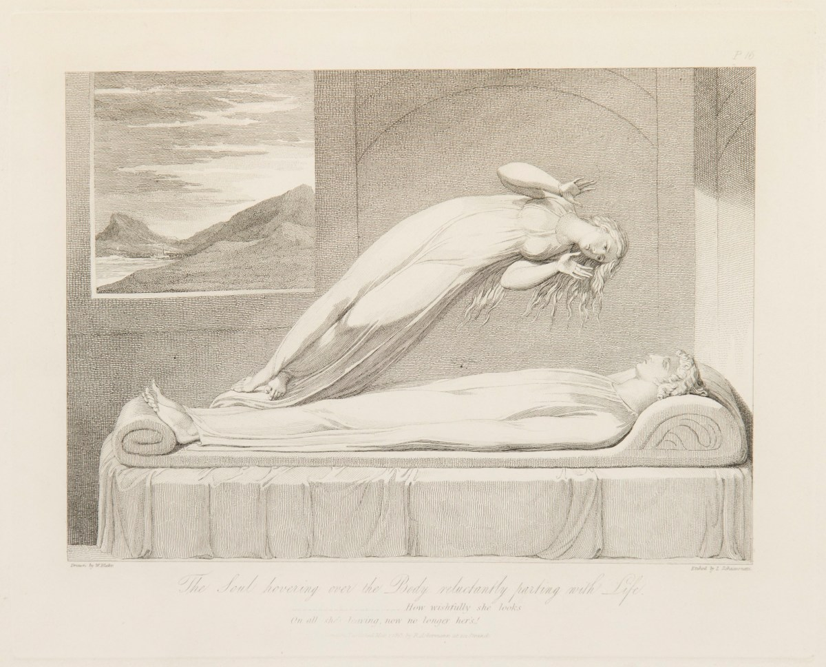 The Soul hovering over the Body, William Blake 1813
