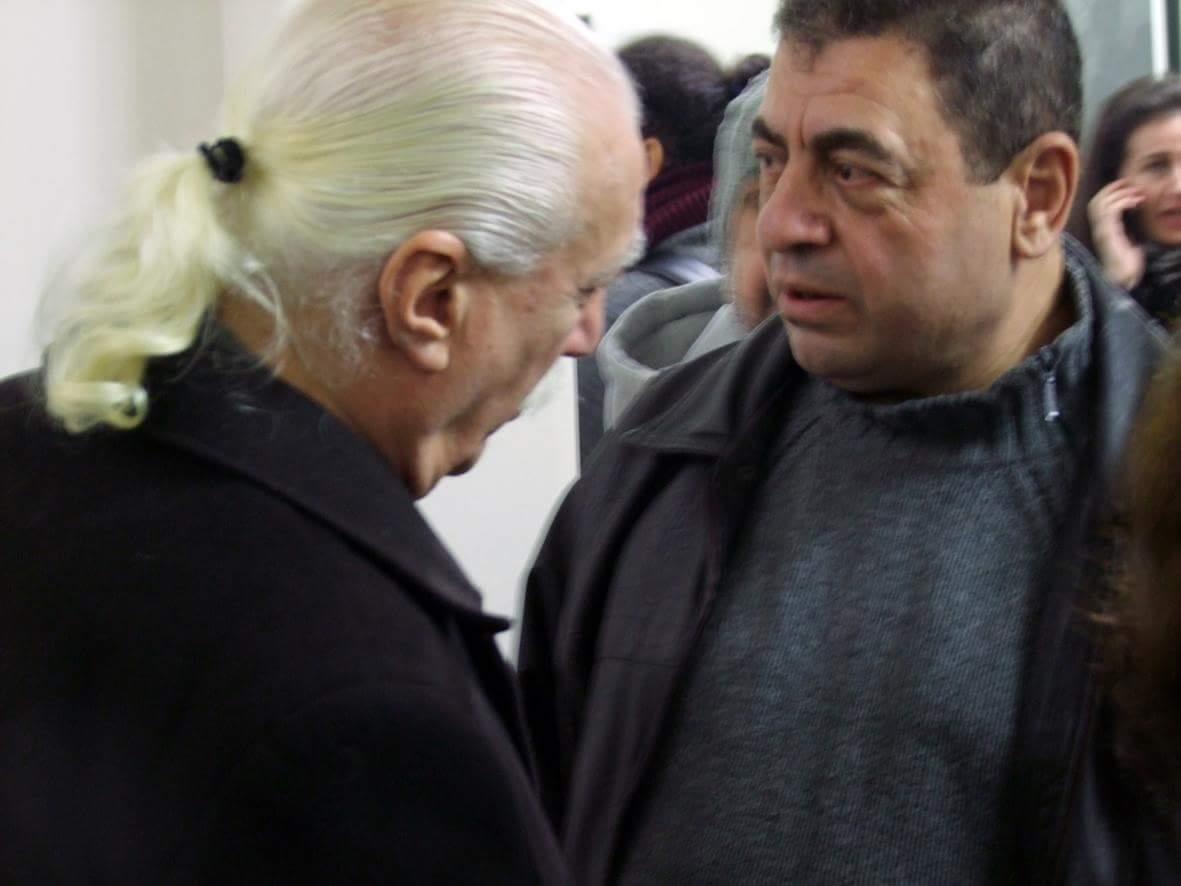 بسام سفر مع يوسف عبدلكي في المعرض