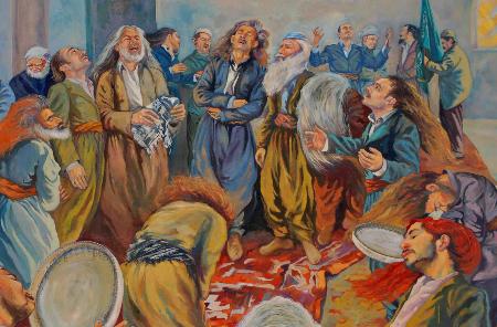 الأربعاء الأحمر، دائرة الطباشير الإيزيدية