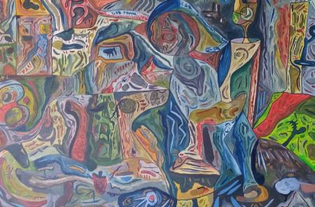 لوحات لنبراس البرغوثي، حيث لا حدود للأسئلة