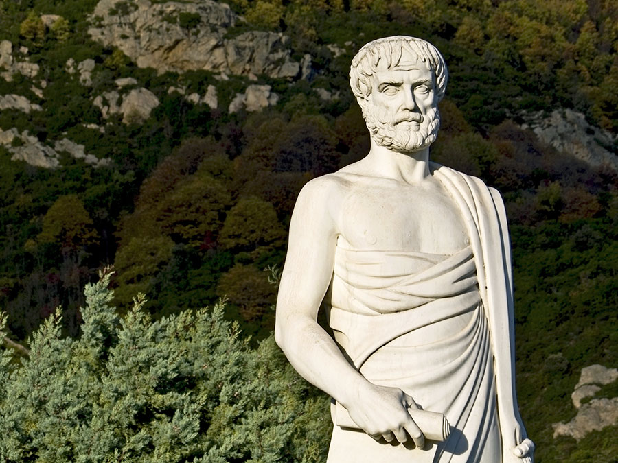 Stock Photo - Aristotle statue located at Stageira of Greece