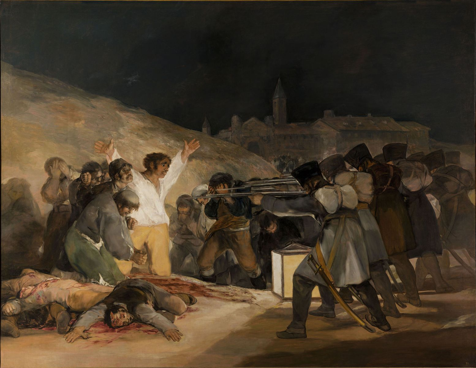The Third of May 1808, Francisco Goya, 1814, Oil on canvas, 268 cm × 347 cm