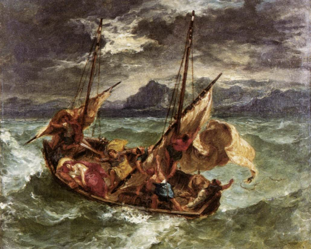 Christ on the Sea of Galilee, Eugène Delacroix Description Artist, Eugène Delacroix, 1854
