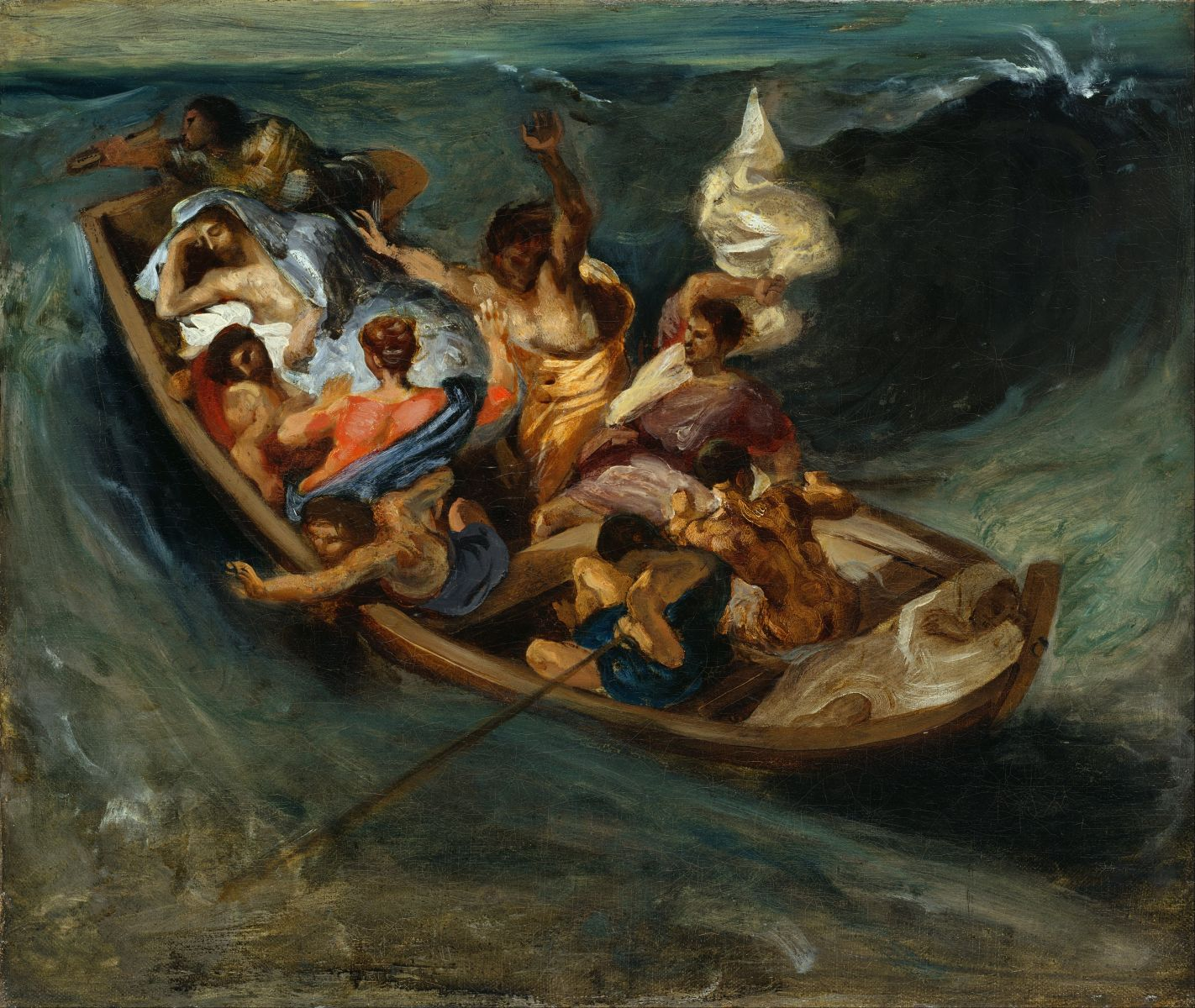 Christ on the Lake of Gennezaret, Eugène Delacroix, 1854
