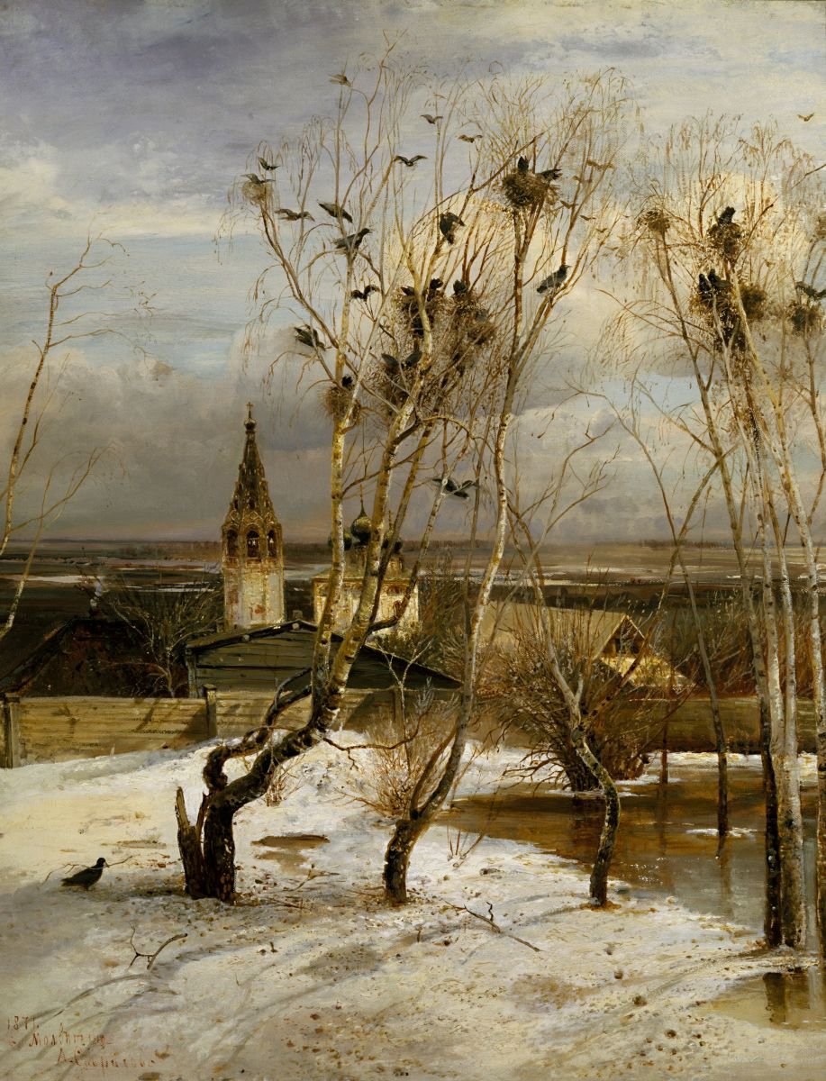 Village in Winter, c.1877, Isaac Levitan