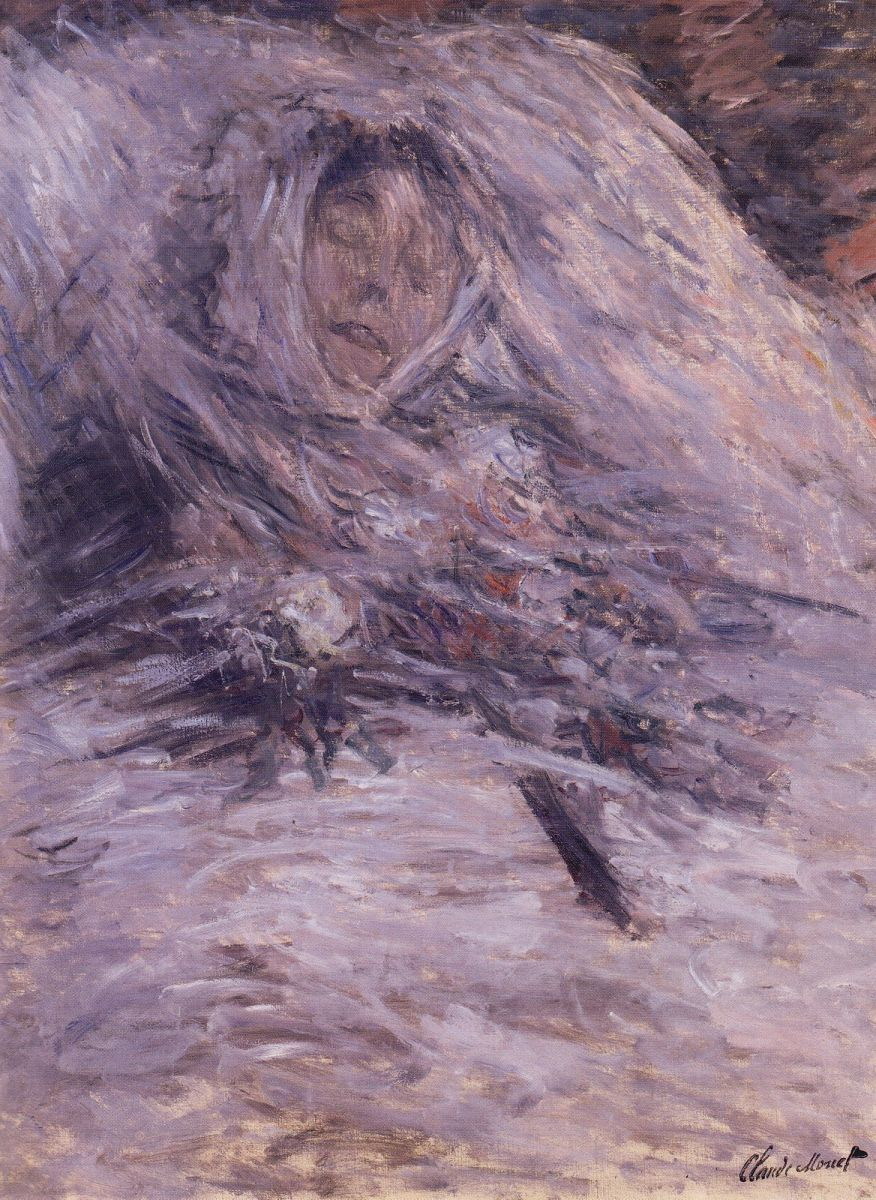 Camille Monet On Her Deathbed, Claude Monet, 1879