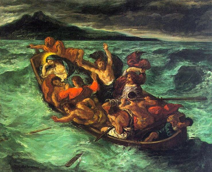 Christ on the Lake of Gennezaret, Eugene Delacroix, 1854