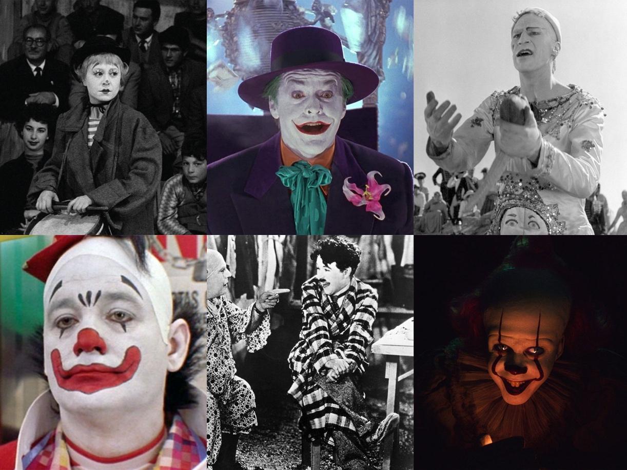 عشرة أفلام عظيمة عن المهرّجين (ترجمة)